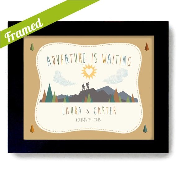Wedding Gift Ideas For Nature Lovers : Outdoorsy Couple Wedding Gift Nature Lovers Couples Gift Framed Art ...