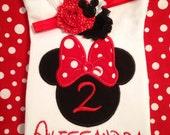 Minnie Mouse birthday shirt, Disney trip, Mickey Mouse, girls birthday outfit, girl's birthday shirt, birthday,  girls shirt, toddler, baby