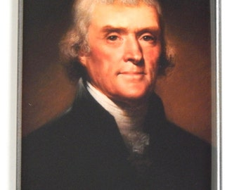 President Thomas Jefferson Portrait Fridge Magnet