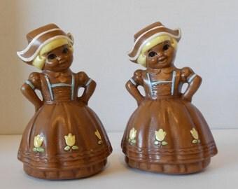 Vintage Twin Winton Dutch Girl Salt & Pepper Shakers