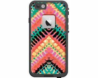 Custom LifeProof Case | Tribal Chevron | Waterproof Case for iPhone 6 Plus, iPhone 6, iPhone 5s, iPhone SE, iPhone 5c