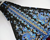 THE FROCK oF BARoQUE . L . Art Nouveau Beauty . Breath-Taking Renaissance Print Dress 70s