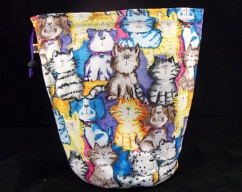 SALE M/L Project bag 91 cats and dogs