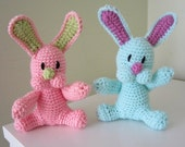 ON SALE - 10% OFF Crochet toy animal... stuffed Soft Bunny Safe sock rabbit..