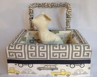 Dog Car Seat SMALL ***Ready Made grey / yellow / ivory *** by FancyFido