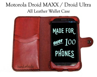 Droid MAXX / Droid Ultra Leather Wallet Case, droid maxx case, droid ultra case, droid maxx phone wallet, leather phone case, custom case