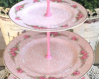 John Maddock Rosarie Pink 3 tier Cake Stand