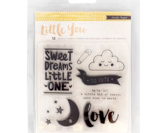 Crate Paper Little You Clear Acrylic Stamp Set -- MSRP 6.00