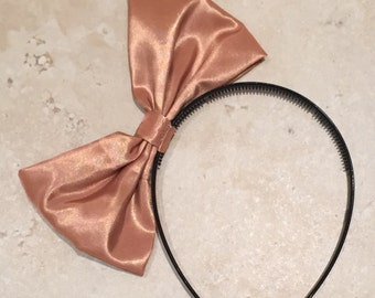 Shiny gold large bow headband