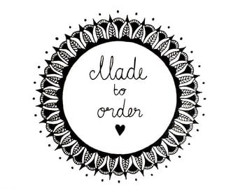 Mandala OOAK - Made to Order - Freehand Ink on Watercolor Paper - FREE SHIPPING