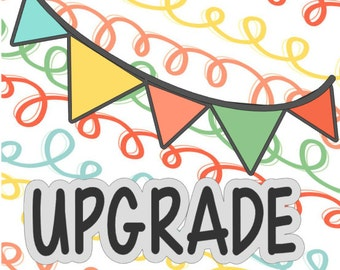 Upgrade for Party Package - 'I AM 1' HC Banner to Fabric HC Banner