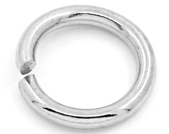 100 Jump Rings - Stainless Steel - Opened - 1.2mm Thick - 16 Gauge - 8mm - Ships IMMEDIATELY from California - F365