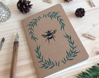 Recycled Bee Sketchbook, Bee Notebook, Journal, Notebook