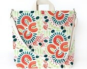 The Artist Tote   Large Patterned Canvas Market Tote for Art Supplies and Laptop