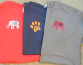 Alabama National Championship Elephant Roll Tide Monogram Personalized Tee