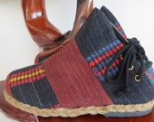 Tribal Womens Ankle Boots Ethnic Naga Embroidered Short Boots Vegan - Amber