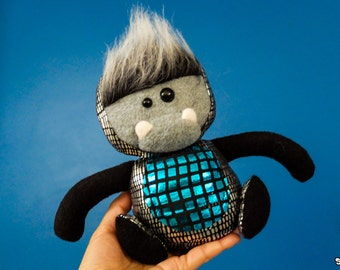 Blue Mini Robodinosquatch Plush
