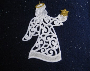 Filigree Angel Ornament or Gift Tag