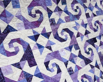 Batik Patchwork Quilt, In A Spin, Queen / King by PingWynny