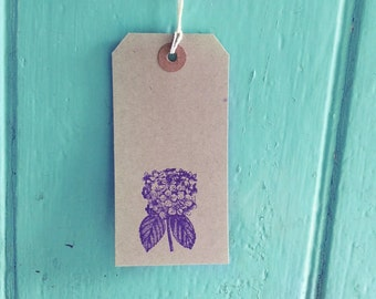 Floral tags for weddings, hydrangea tags, wedding place cards, wedding favour tags, favor tags, wedding wish tree, etsy uk, brown gift tags