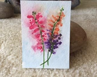 Snapdragons Mini Art Card
