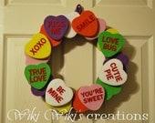 Heart Candy Wreath