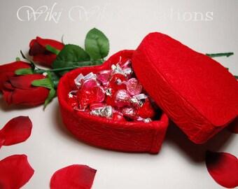Felt Heart Shape Gift Box