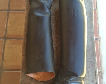 DEHNER'S Omaha Nebr Beautiful Black Leather Riding Boots women's 71/2