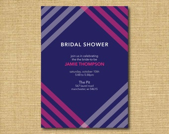 Printable Striped Bridal Shower Invitation