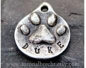 Personalized Dog Tag - Pet ID Tag - Pet Tag - Dog ID Tag - PawPrint Handmade Custom
