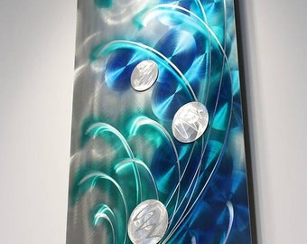 Wilmos Kovacs - Metal Wall Art, Abstract Art, Metal Wall Sculpture Art Decor, Rainbow Art, Original Art - W263