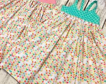 Gemma: lovebug heart dress, girks heart dress, heart print, lovebug dress, lovebug party, lovebug birthday