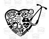 SVG - Nursing Student Collage - Nurse - LPN - RN - Nursing School - Nurses Week - Nurse Decal Design - Nurse Shirt - Nursing Ornament Design