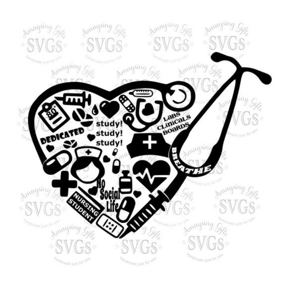 Nursing Classroom Design : Svg nursing student collage nurse lpn rn