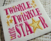 Twinkle little star embroidery design, star embroidery, star appliqué design, twinkle twinkle little star, appliqué embroidery design
