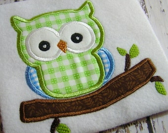 applique owl embroidery design, owl design, appliqué ow embroidery, embroidery machine design, instant download, digital image