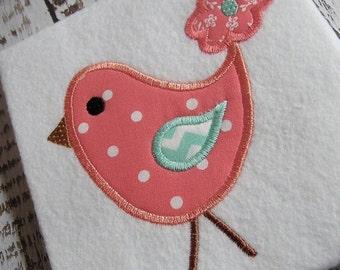 Appliqué Bird embroidery design, embroidery design,  bird applique, applique instant download, embroidery bird, appliqué instant download