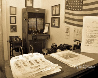 Old Post Office, Fine Art Photography, 8x10, Glossy, Matted, Sepia