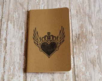 Mini Winged Heart Journal Pocket Pad