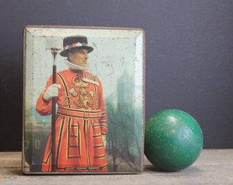 Vintage Edward Sharp & Sons Ltd. Quality Confectionery Tin // British Tin // Chief Yeoman Warder // Primitive Antique Tin
