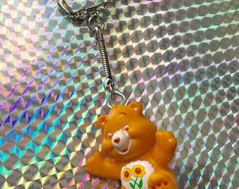 Carebear keychain  // Friend bear // 80s // Party favor // 90s //nineties // grunge