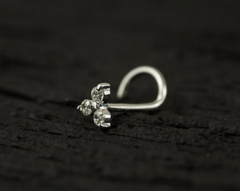 Trinity CZ diamond nose screw / nose stud / nose ring