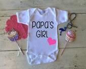 Papa's Girl Onesie, Girl Onesie, Daddy Present, Papa Present, Sweet Onesie, Size 0-18 months