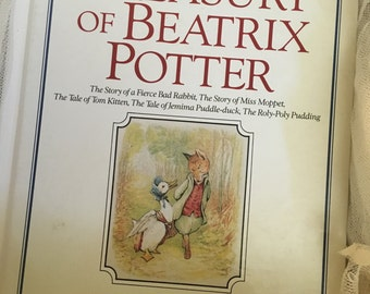 The Giant Treasury of Peter Rabbit by Beatrix Potter-published 1980's, Beatrix Potter books,Peter Rabbit books, Easter Books