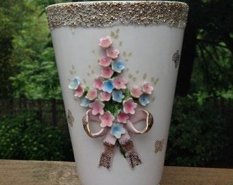 Lefton Pink Vase