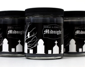 Halloween Candle - Graveyard - Midnight - Black Candle