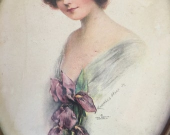 Edwardian Girl Vintage Print 1908