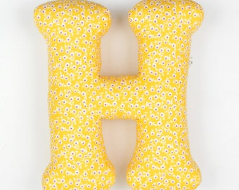 lovely letter pillow,tiny flowers, personalized girls room