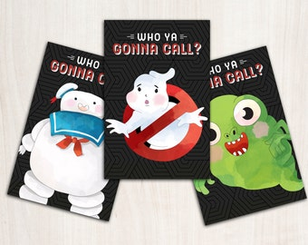 Ghostbuster Party Decor Posters -  Ghostbusters Party Supplies - Digital Party Game - {INSTANT DOWNLOAD}