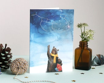 Ursa Major + Ursa Minor Greetings Card